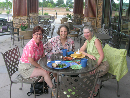 Nancy, Lindy and Glo July 9th, 2010 Flagstaff
